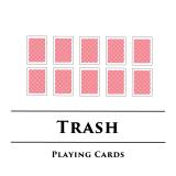 トラッシュ/Trash 2人用カードめくりトランプゲーム
