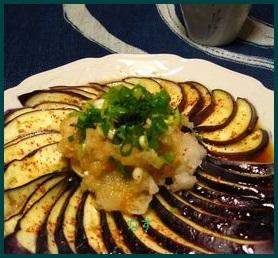 nasu726-1 なすレシピ 簡単レンジでさっぱり調理 初心者でも出来ます。