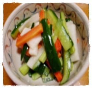 ama1-300x285 甘酢漬けレシピ 人気の野菜たっぷり常備菜になります。