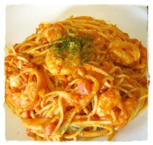 ebi1-300x285 エビのパスタレシピ 人気 のトマト・ペペロンチーノ・クリーム味