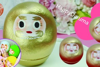 天啊,竟然有馬卡龍色系的達摩 ! 顏色好可愛啊 ! |傳遞幸福的快樂達摩|日本職人手繪造型・日本熱賣中