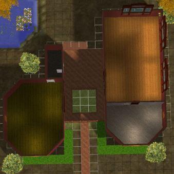 Jungle House tampak atas denah