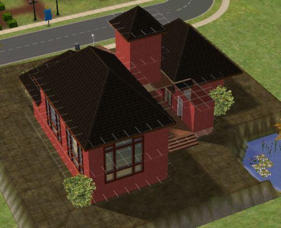 Jungle House tampak samping atas