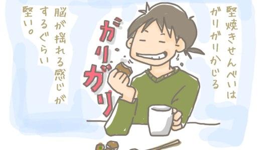 甲南PAで伊賀名物・堅焼きせんべいを買って食べる。