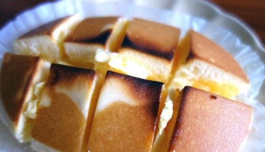 チーズ蒸しケーキを焼いてバターとはちみつをかけるのやってみた