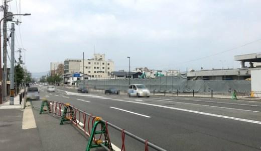 中央卸売市場第一市場のホテル計画地と新駅と七条通