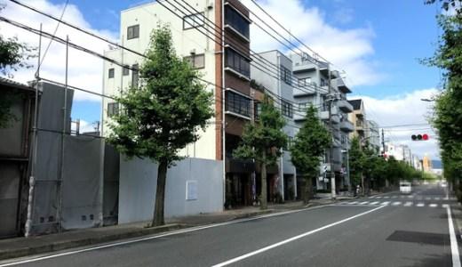 二条駅前 『グローバル・エルシード』の現場に建築看板設置!!