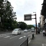京都御所南の丸太町通のバリケード