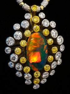 Black Opal Pendant AT188