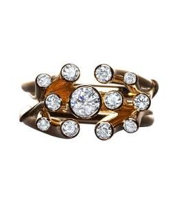 Sea Anemone Diamond Ring
