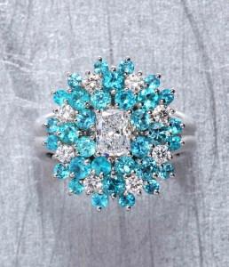Paraiba & Diamond Ring BC5030