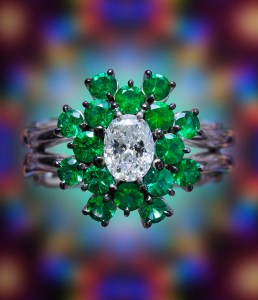 Emerald & Diamond Ring BC6073