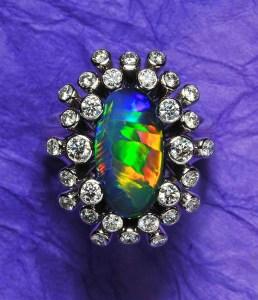 Black Opal Ring AT142
