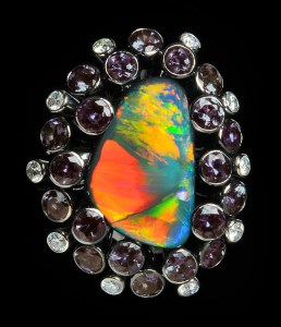 Black Opal and Alexandrite Ring BC5171