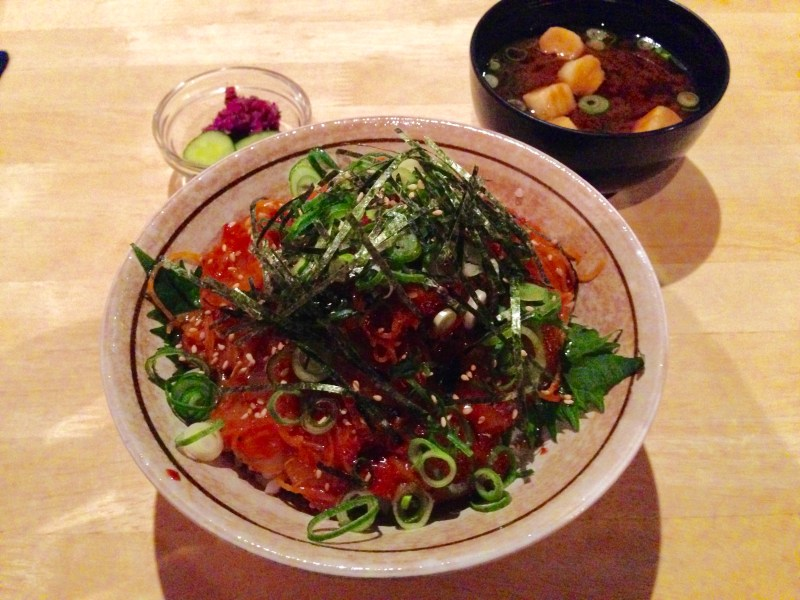 野菜天ぷら八百起海鮮丼