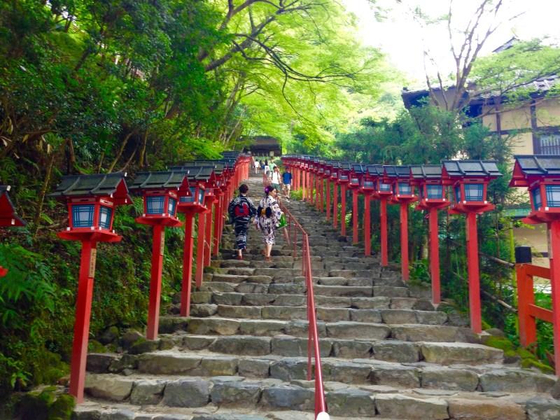 貴船神社階段