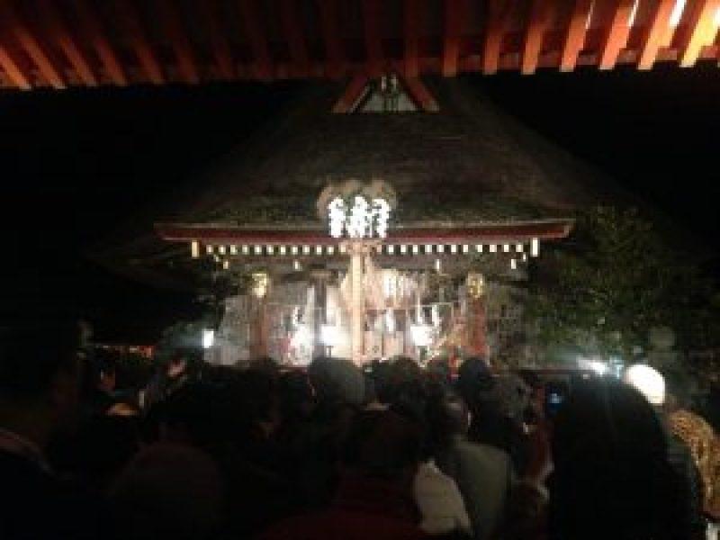 吉田神社の節分祭1