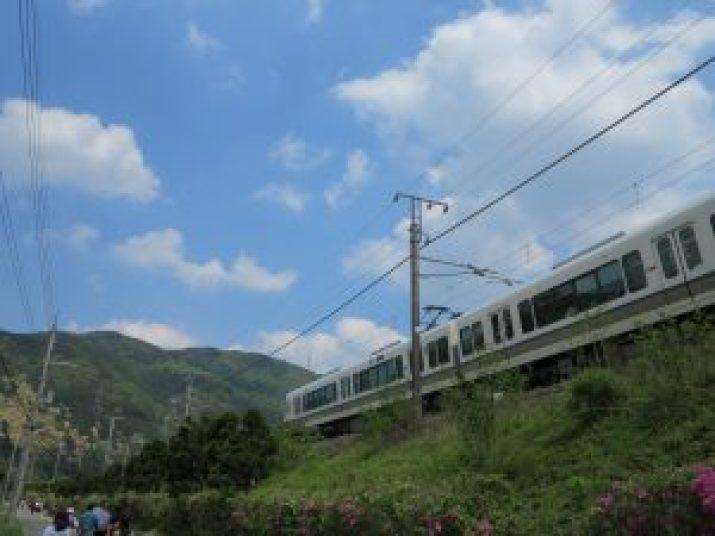 嵯峨野観光列車トロッコ列車2