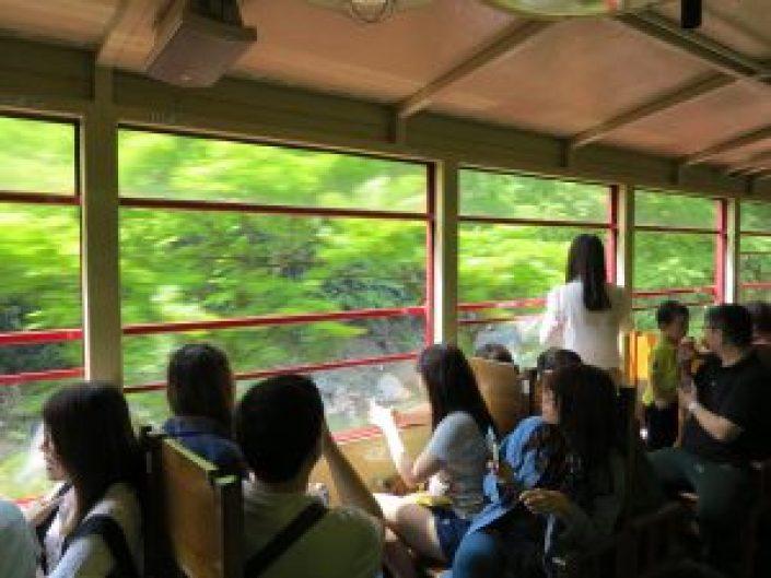 嵯峨野観光列車トロッコ列車9