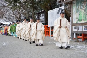 Shinto priests at Kamogamo shrine