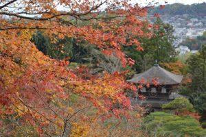 紅葉の銀閣寺