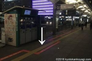京都駅前バス停D1のりば