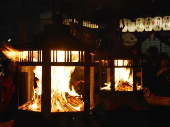 京都・八坂神社・おけら詣り
