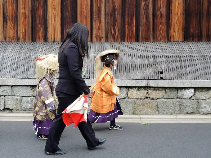 京都・熊野神社・神幸祭・稚児