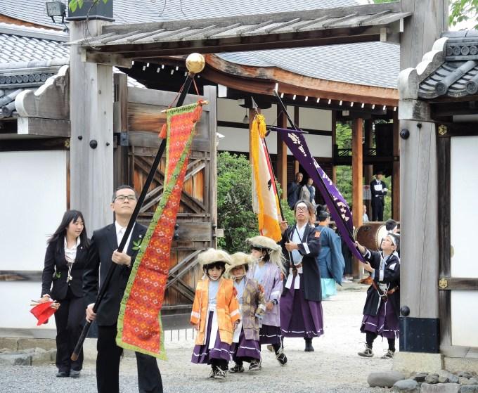 京都・熊野神社・神幸祭行列・聖護院出発