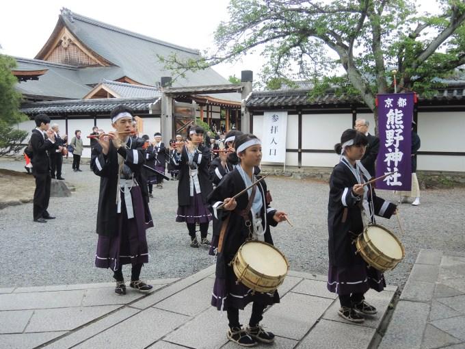 京都・熊野神社・神幸祭・聖護院・熊野少年勤王隊