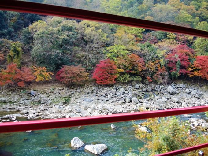 京都・嵯峨野・トロッコ電車