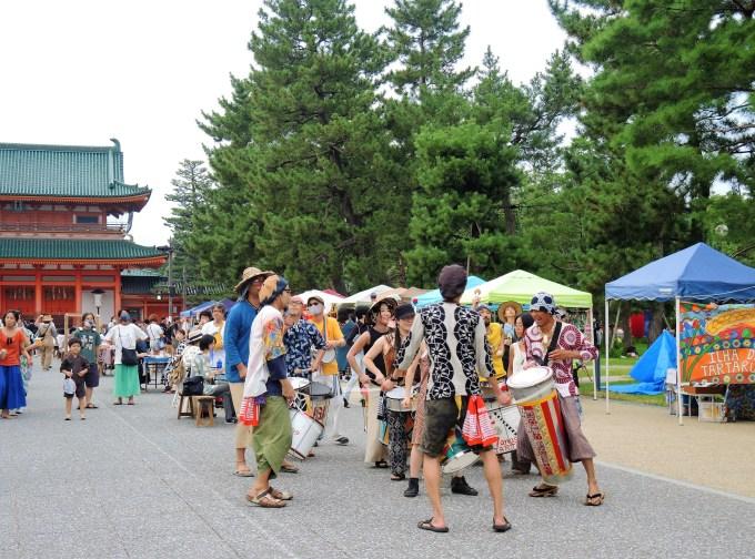 京都「おかざきワンダー夏祭り」イーリャの太鼓隊