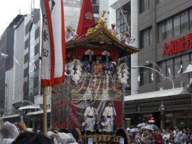 祇園祭注連縄切り