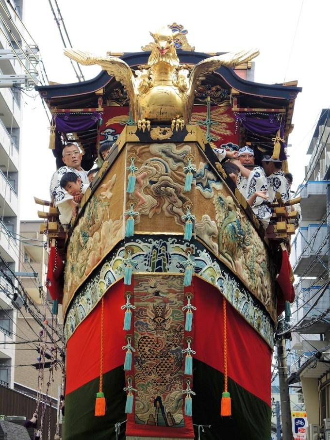 京都・祇園祭・曳き初め・船鉾