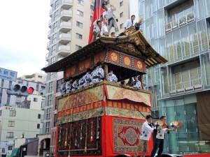 京都「祇園祭」前祭・曳き初め・月鉾