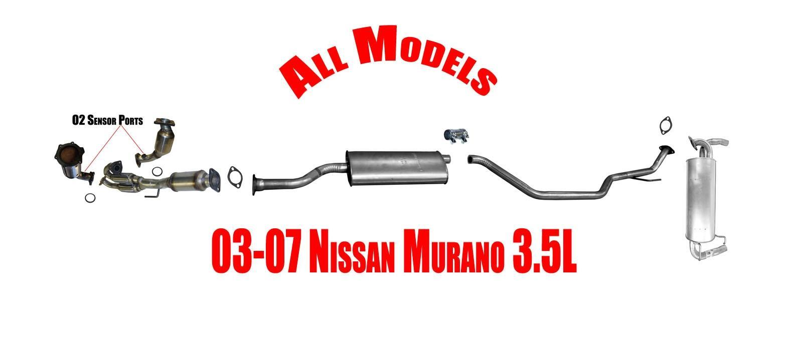 Complete Exhaust System + Catalytic Converter For Nissan