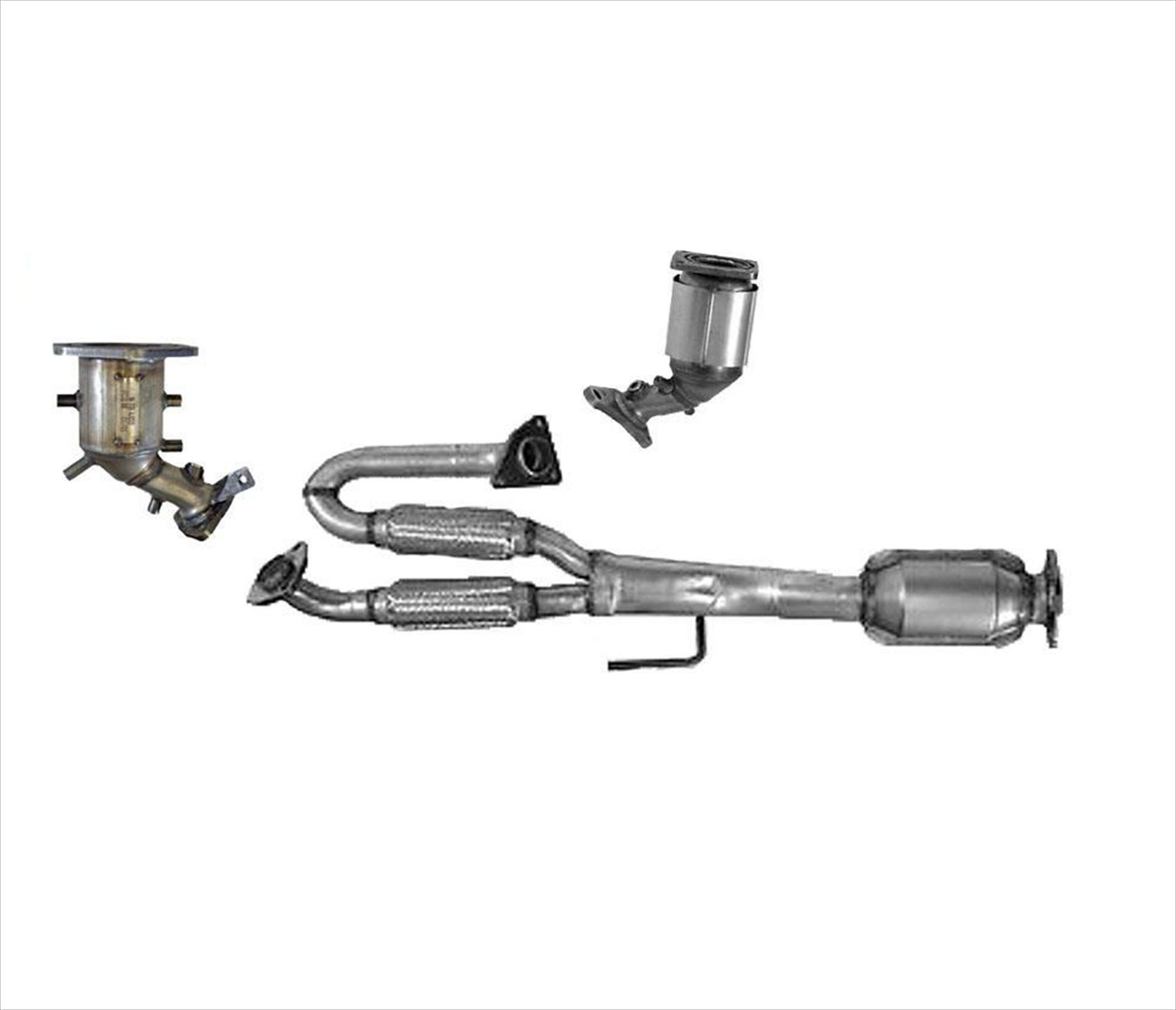 Engine Y Flex Pipe With 3 Catalytic Converters For 09 14