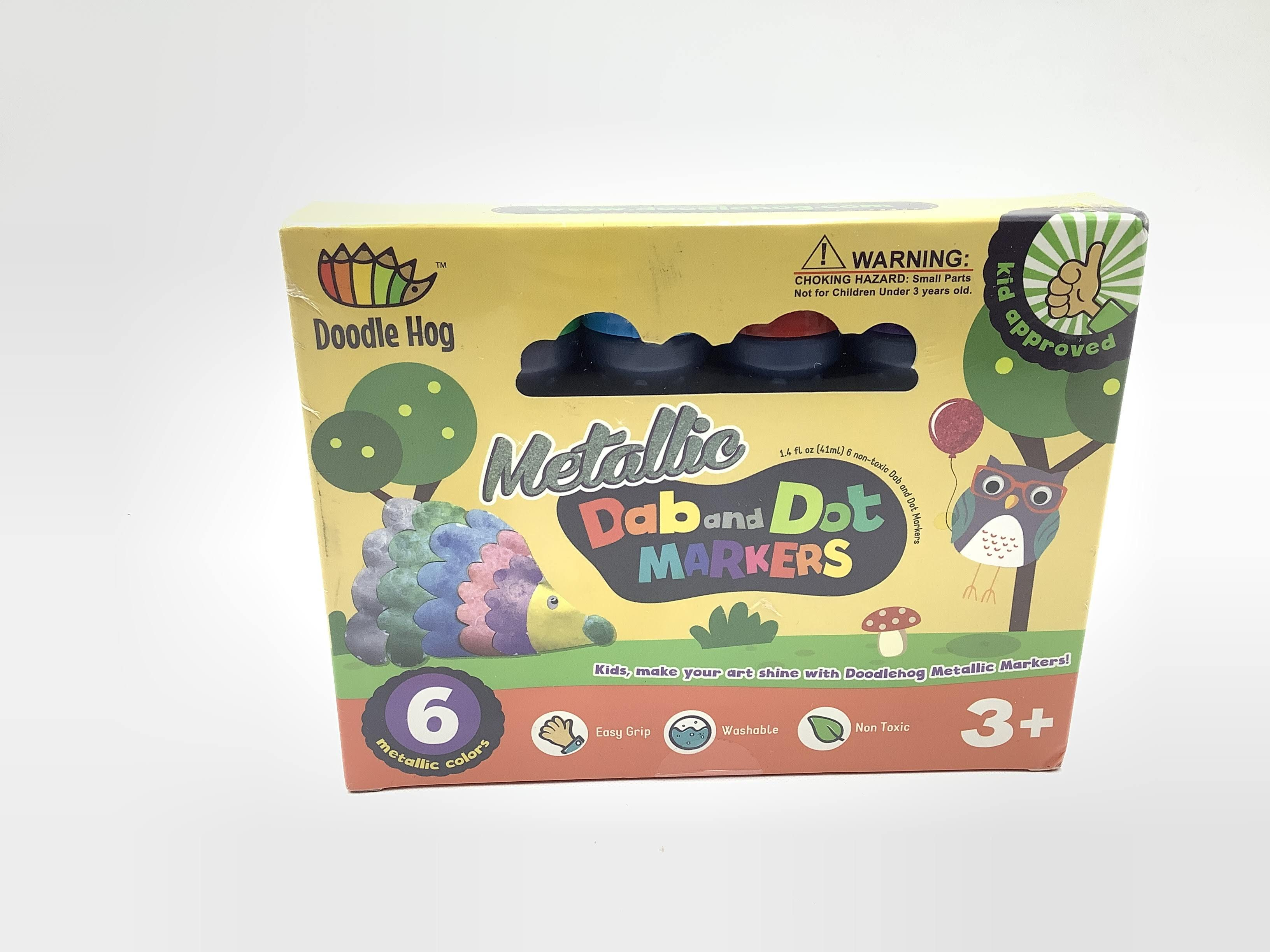 Doodle Hog Metallic Colors Dab And Dot Markers Pack Set
