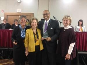 The Kentucky Nursing Association presented Senator Reginald Thomas, D-Lexington, the Citizen of the Year award on Nov. 4 at their annual conference in Louisville.