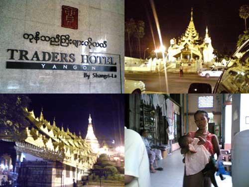 temples in Yangon, Myanmar