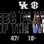 UK MBB's Monk, Fox Combine to Sweep SEC Player, Freshman of the Week