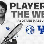 UK Men's Tennis' Matsumura Earns SEC Player of the Week