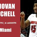 Louisville Cardinals' Donovan Mitchell on 71-66 WIN over Miami