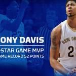 Anthony Davis Sets NBA-All-Star Scoring Mark to Win MVP Honors