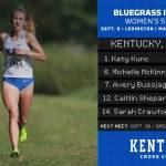 UK Cross Country's Kunc, Thomson Sweep Bluegrass Invitational Individual Titles