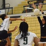 Poole & Martin Notch Double-Doubles as Kentucky State Volleyball Falls to Asbury, 3-1