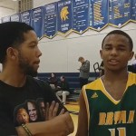 Keaton Simpson of Bryan Station Basketball with Lee G