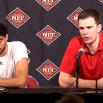 Louisville MBB Coach Padgett & Anas Mahmoud Post Gm vs Mississippi St in NIT