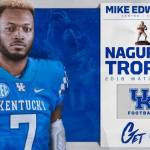 UK Football's Mike Edwards Named to Bronko Nagurski Trophy Watch List