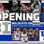 UK Basketball Leads the Nation with 31 Players on NBA Opening-Day Rosters